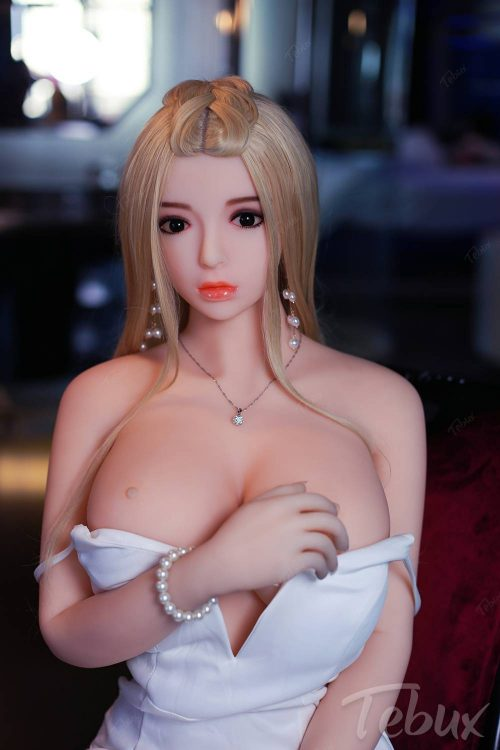 Full size sex doll Alexia kneeling topless