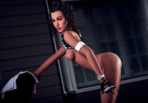Reallife sex doll Abby bending over topless