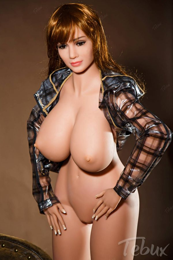 Thick sex doll Mabel standing naked