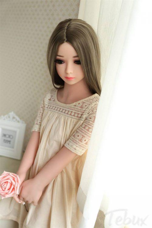 100cm sex doll Harper standing holding rose