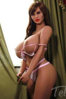 brunette mature Huge Boobs Sex Doll in skimpy lingerie