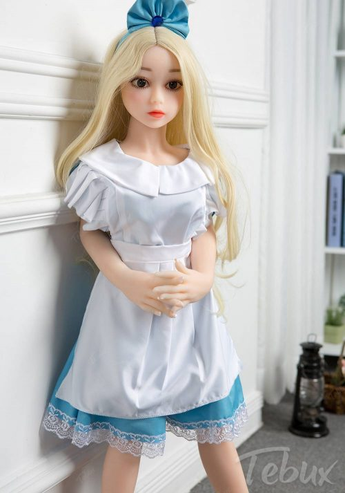 cute Flat Chest Sex Dolls in maid outfit