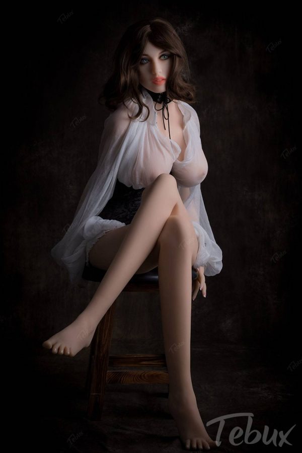 Adult sex doll sitting in lingerie