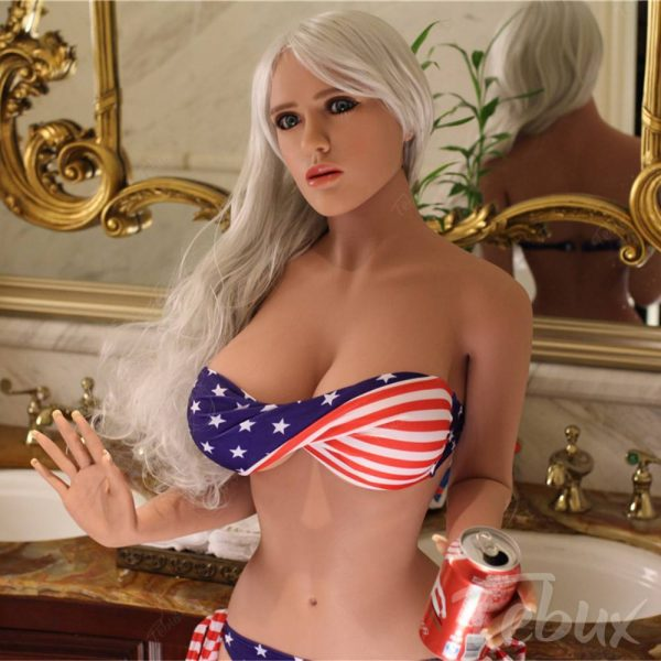 American sex dolls like Kassidy standing wearing lingerie