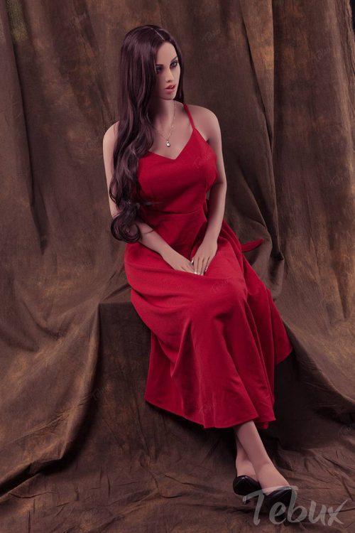 Best sex doll wearing red dress