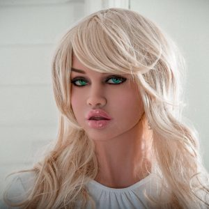 Blonde sex doll Ellen standing up