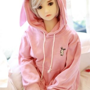 Cheap tpe sex doll wearing pink jumper#