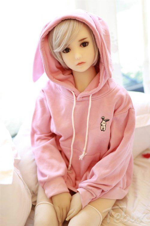 Cheap tpe sex doll wearing pink jumper#