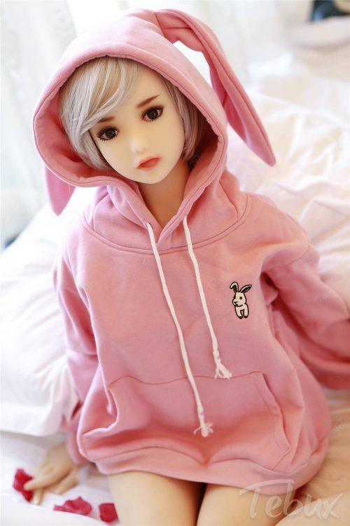 Cheap tpe sex doll wearing pink jumper
