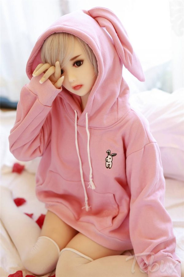 Cheap tpe sex doll wearing pink jumper