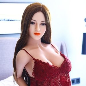 Cheapest sexdoll Vivian kneeling on bed