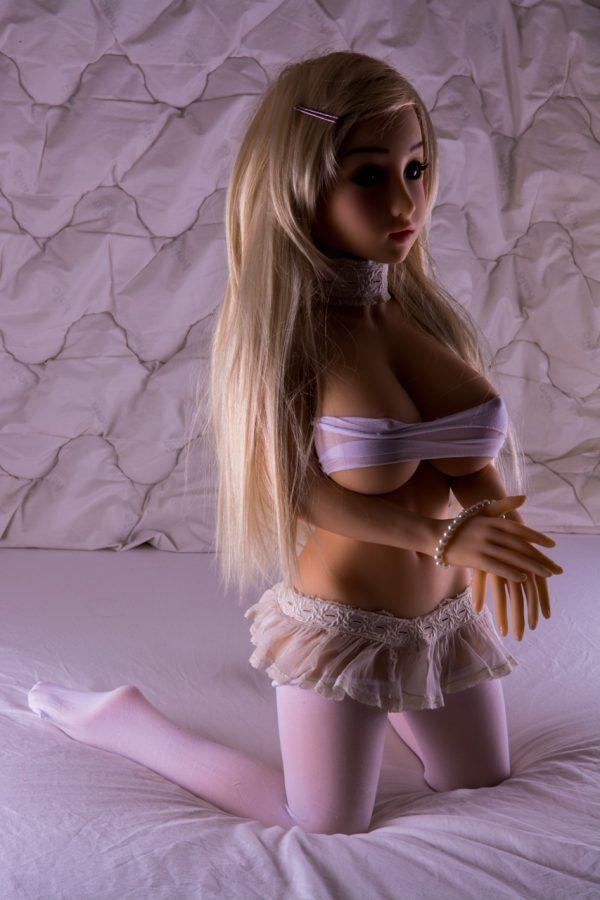 Custom sex doll Scarlett kneeling