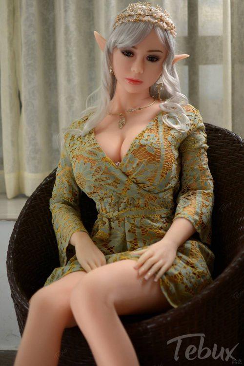 Elf sex doll Holly sitting