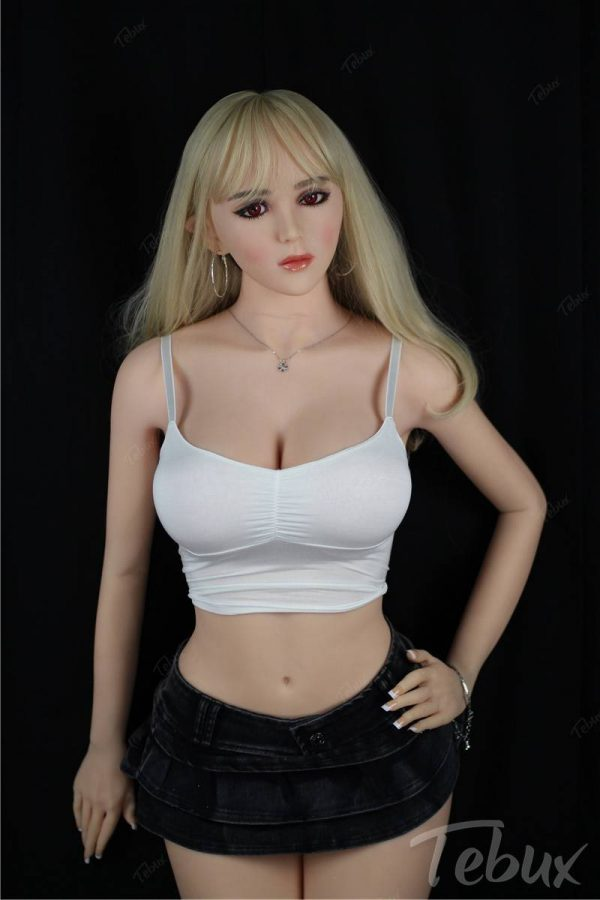 Elf sex doll Virginia sitting wearing short skirt