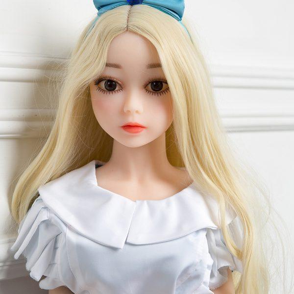 Flat chest sex dolls like Penelope standing in dress