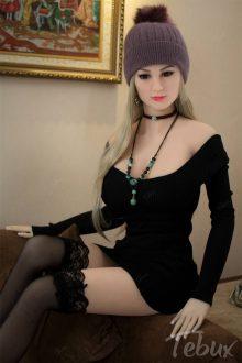 Hot sex doll Allyson wearing black dress