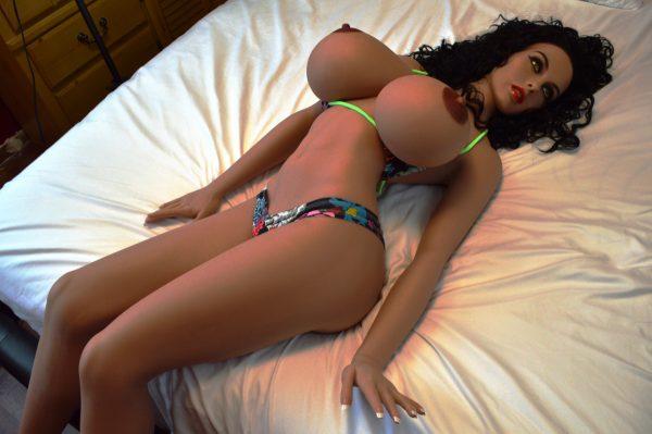 Brunette latina sex doll in bikini