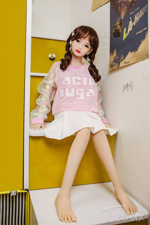 Japanese sex doll sitting