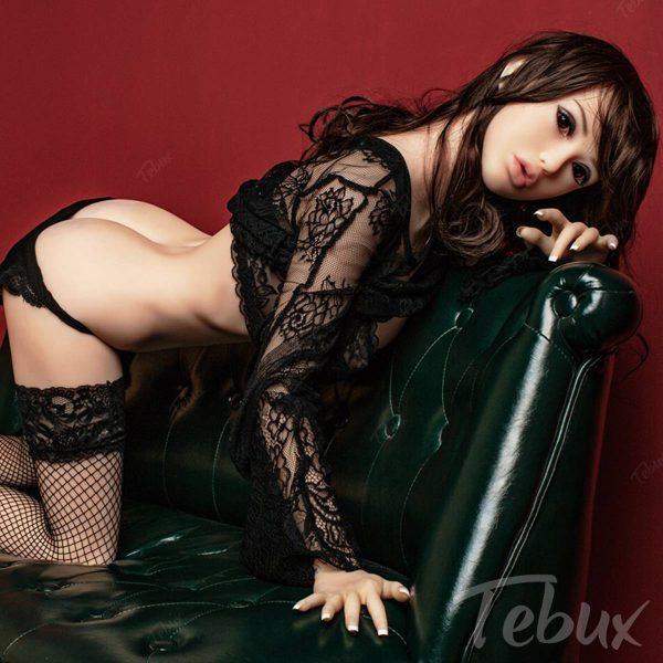 Love sex doll wearing black lingerie