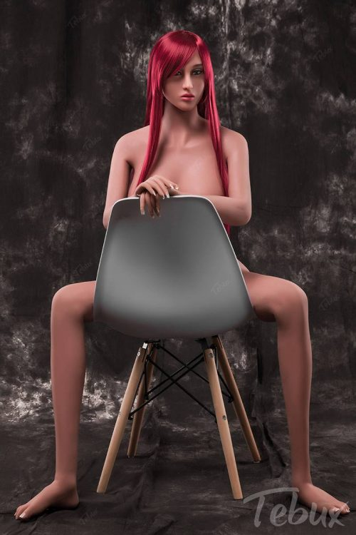 Real life sex doll Fiona sitting on chair naked