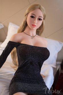 Real life sexdoll Ana wearing dress