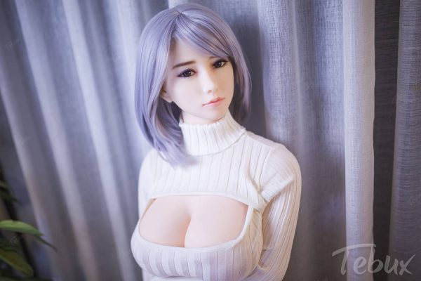 Sex doll for men standing up wearing white top