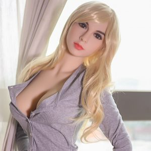 Sex doll small standing wearing short shorts