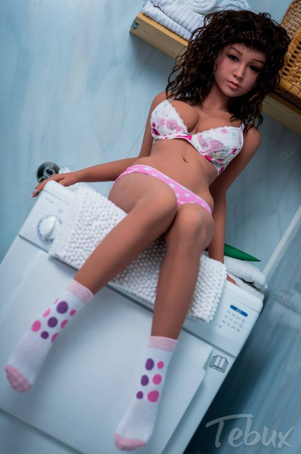 Sex doll teen Estella sitting wearing cute lingerie