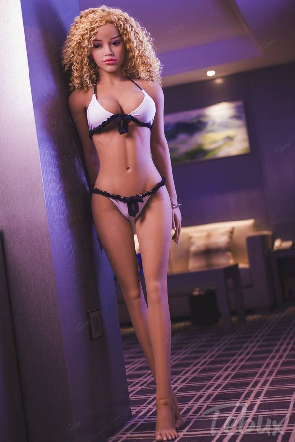 Small sex doll wearing lingerie