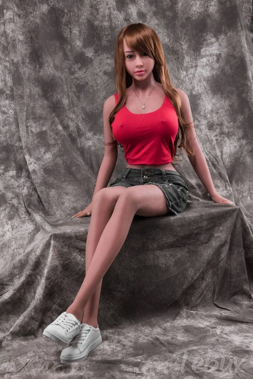 Tpe sex dol wearing red top