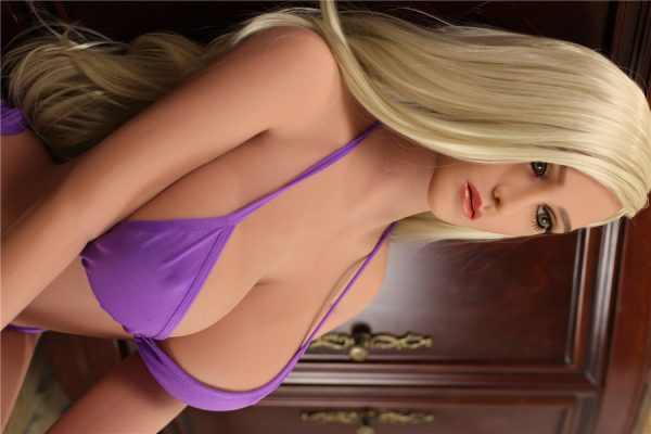 blonde love doll in pink bikini