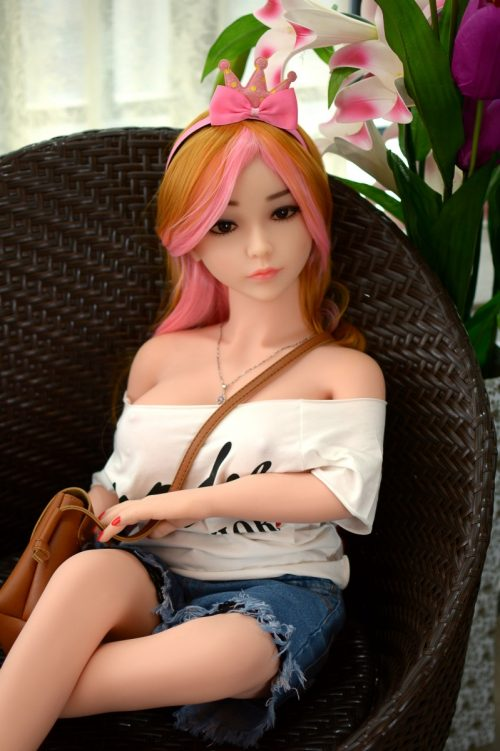 big cup sex doll with colorful hair.