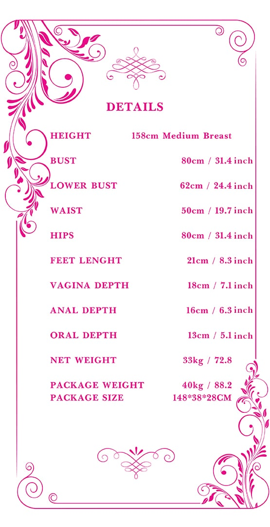 158cm medium breast sex doll measurements Tebux